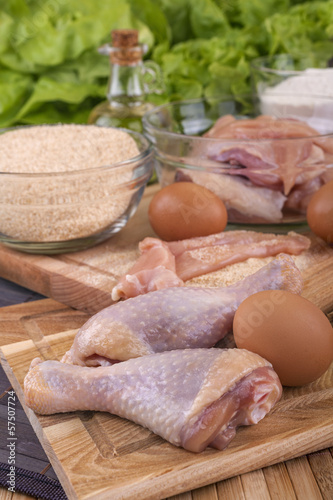 preparation of fresh chicken for frying