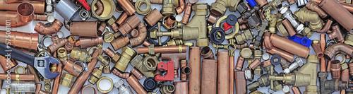 Leinwanddruck Bild plumbers bits