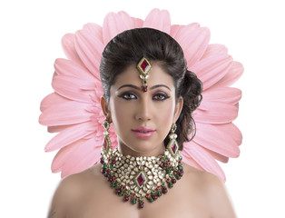 Beautiful Indian women portrait with jewelry