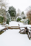 British garden in winter