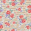 retro roses over stripes ~ seamless background