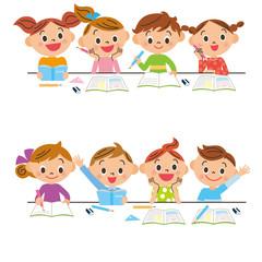 勉強をする子供達