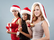group of christmas women