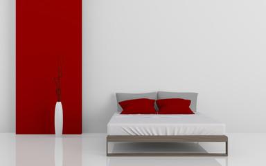 Modern bed 3D