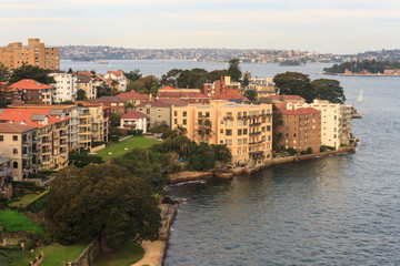residential houses in Kirribilli suburb in Sydney