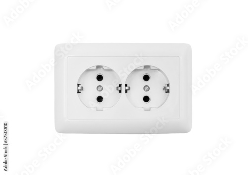 Socket isolated on a white background - 57513910