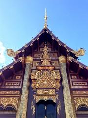 art of Lanna Thailand style temple
