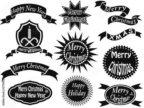 black christmas labels