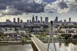 Fototapety Warsaw skyline behind the bridge