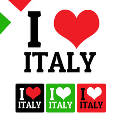 I love Italy sign and labels