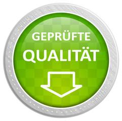 Button grün - geprüfte Qualität