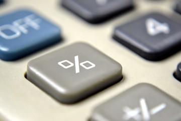 Calculator Focus on Percentage Sign