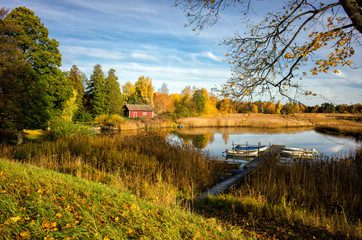 Autumn by lake Sottern in Svennevad, Sweden