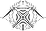 glory of archery. stencil poster