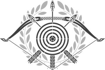 glory of archery. stencil