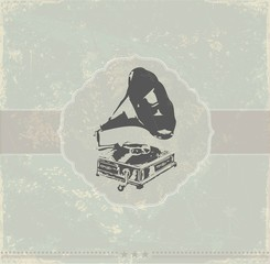 Retro gramophone background.