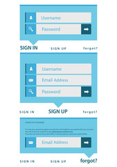 modern log in, sign in, sign up page interface. light background