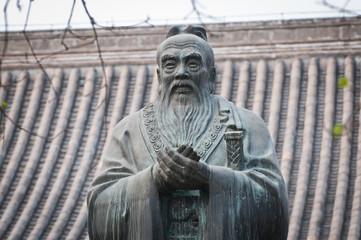 statue of Confucius in Beijing Guozijian (Imperial Academy)