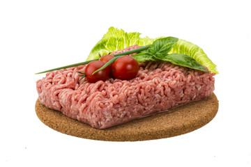 Stuffed raw meat