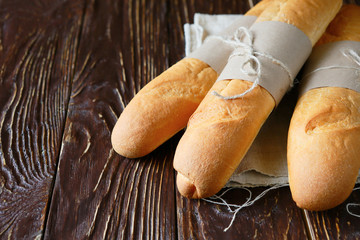 crunchy and flavorful baguettes