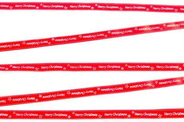 rote Bänder mit Merry Christmas Aufschrift