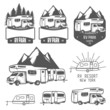 RV, caravan park badges and design elements