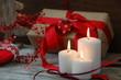 Adventskerzen und Weihnachtsgeschenk