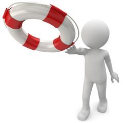 Rettungsversuch Rettungsring werfen
