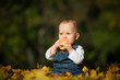 Healthy eating - baby with apple