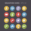 Flat Icons For Education
