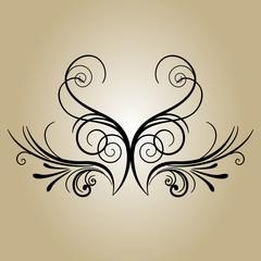 баннер цветок ретро