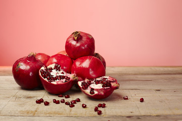 Red pomegranate fruit