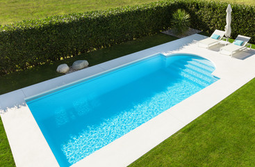 Modern pool; top view