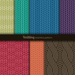 Seamless patterns knitting style