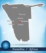 Namibia als Übersichtskarte