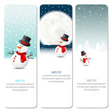 christmas banners with snowman