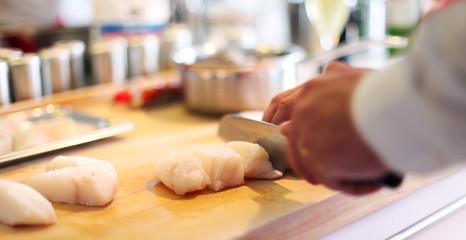 Zubereitung von Fisch