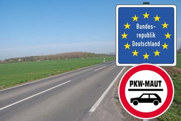 Grenzschild PKW-Maut