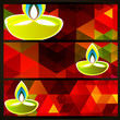 colorful diwali headers