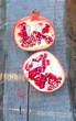 Two halfs sweet pomegranate