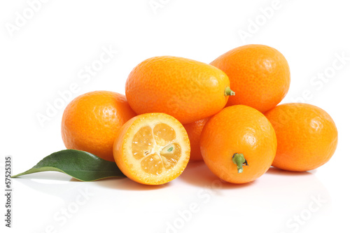 Kumquat with leaf