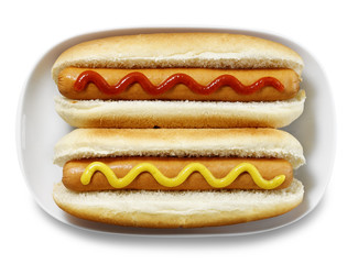 hot dogs isolated