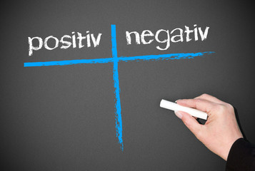 positiv und negativ