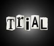 Trial concept.