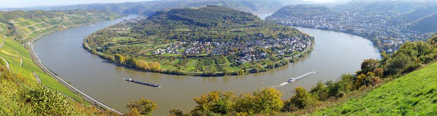 Rheinschleife bei Boppard - Rhein Panorama