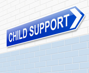 Child support concept.
