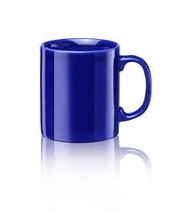 blauer Becher