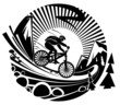 Riding a mountain bike - 57527321