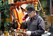 Industrial engineer in factory