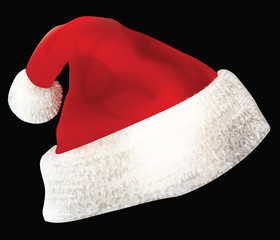 Santa Claus Hat, vector illustration